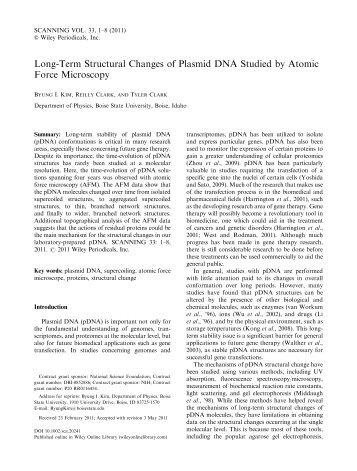 Long Term DNA Degradation - DEPARTMENT OF PHYSICS - Boise ...