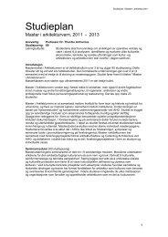 Studieplan 2011-2013 - Arkitektur- og designhøgskolen i Oslo