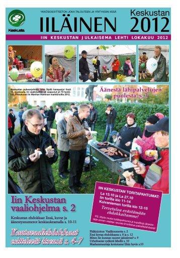 keskustan iiläinen lokakuu 2012 - Pudasjärvi-lehti ja VKK-Media Oy
