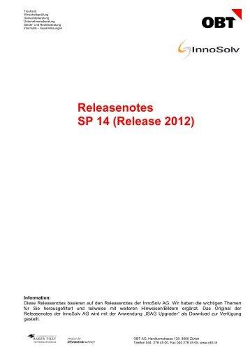 Releasenotes SP 14 (Release 2012) - obt