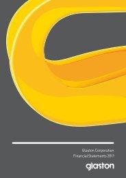 Glaston Corporation Financial Statements 2011