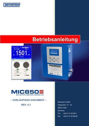 Betriebsanleitung - Motortech GmbH