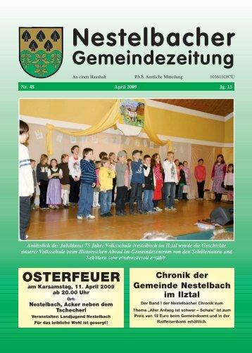Nestelbacher Gemeindezeitung - Nestelbach im Ilztal