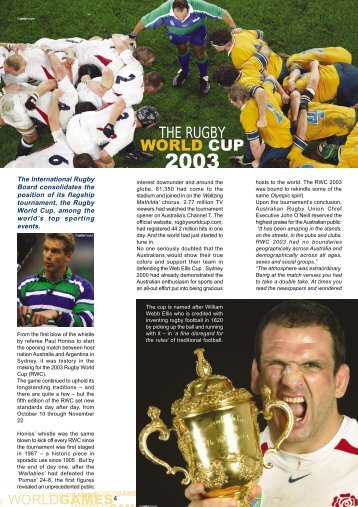 THE RUGBY WORLD CUP - sportcentric