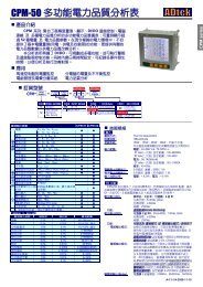 CPM-50 多功能電力品質分析表