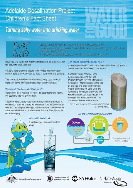 Adelaide Desalination Project Student Fact Sheet - SA Water