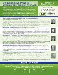 REGISTER NOW! - ABC-Clio