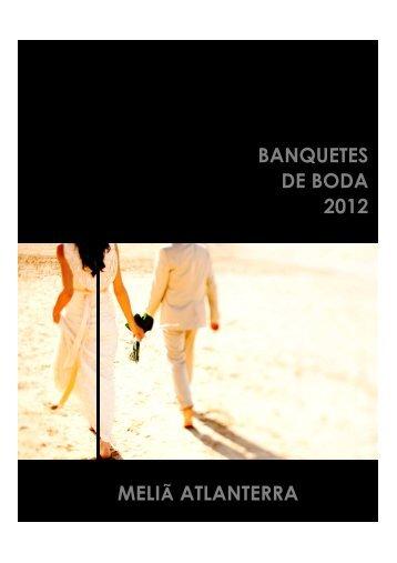 MENUS DE BODAS 2012