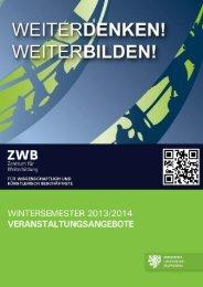Programm - Zentrum für Weiterbildung - Bergische Universität ...