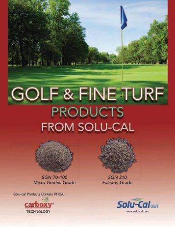 GOLF & FINE TURF - Solu-Cal