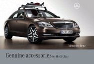 Genuine Accessories for the S-Class