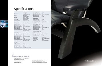 specifications - Advanced Memory Foam Products