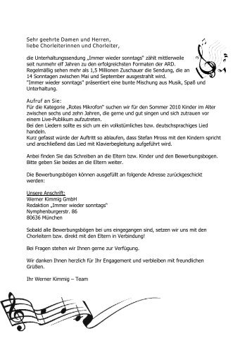 Liebe Kinder - Bayerische Musikakademie Hammelburg