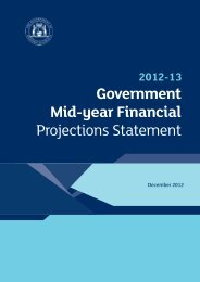 2012-13 Government Mid-year Financial Projections Statement