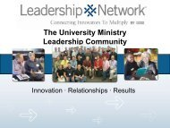 The Generous Churches Leadership Community