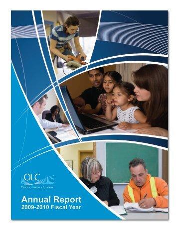OLC Annual Report 2009-2010 - Essential Skills Ontario