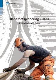 Planera objekt i Trainplan - Trafikverket