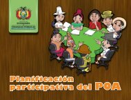 Planificación participativa del POA - Ministerio de Economía y ...
