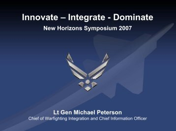 Lt Gen Peterson