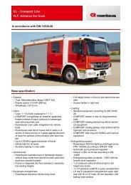 HLF 10 Dresden MB Atego series CL - Rosenbauer International AG