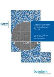 Wissenschaftliche Untersuchung Vol. III - DeguDent GmbH