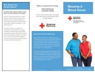 Blood Donor Brochure - American Red Cross