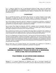 reglamento de ingreso, promoción y permanencia del ... - UIMQRoo