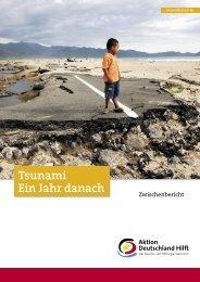 Tsunami Ein Jahr danach - Aktion Deutschland Hilft