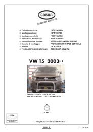 VW T5 - Cobra-SOR