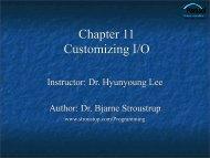 Customizing Input and Output - TAMU Computer Science Faculty ...