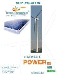 Scarica la scheda di valutazione del sito - Tecno Energysun