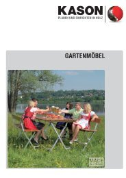 KASON Prospekt Gartenmöbel 2013 (PDF, ca. 7,8 MB)