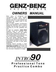 INTRO 90 manual.pub - Genz Benz