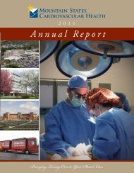 Annual Report ort - Mountain States Health Alliance