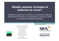 Maladie veineuse chronique et médecine du travail : - ESKA