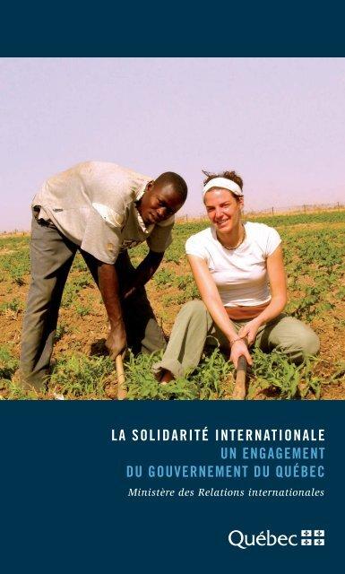 la solidarité internationale un engagement du gouvernement du ...