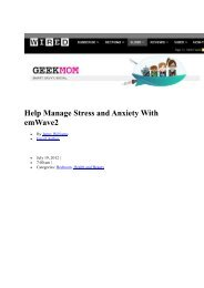 Help Manage Stress and Anxiety With emWave2 - Heartmath Benelux