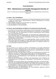 MFA - Maintenance and Facility Management Society of Austria