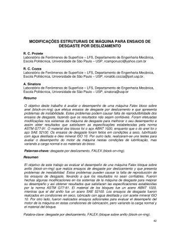 MODIFICAÇÕES ESTRUTURAIS DE MÁQUINA PARA ... - LFS - USP
