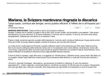 Guardiamo il piccolo comune di Mariana Mantovana - 24Emilia.com