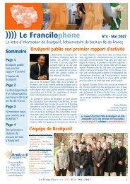 31/05/2010 Francilophone N°4 - Bruitparif