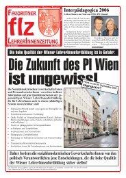 favoritner lehrerinnenzeitung - Zentralverein der Wiener Lehrerschaft