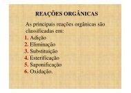 reações orgânicas - La Salle