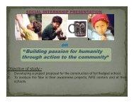 Intern site visit presentation - Asha for Education