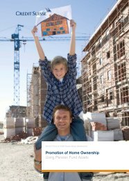 Promotion of Home Ownership Using Pension ... - Pensionskasse