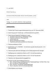 Protokoll der Einwohnergemeindeversammlung vom ... - Seengen
