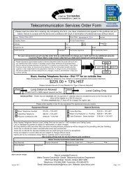 Telecommunication Services Order Form