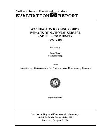 Washington Reading Corps: Impacts of National Service and the ...
