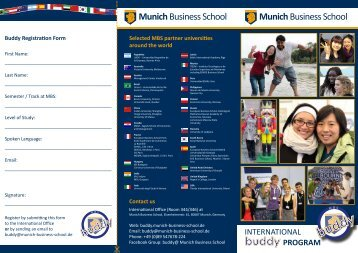 buddy - Munich Business School