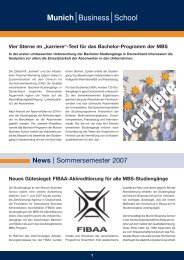 News   Sommersemester 2007 - Munich Business School
